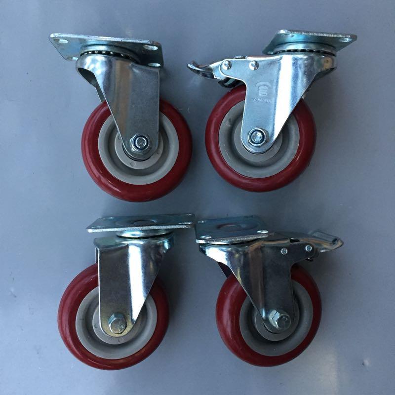 Bộ 4 bánh xe đẩy chịu tải trọng đường kính 100mm