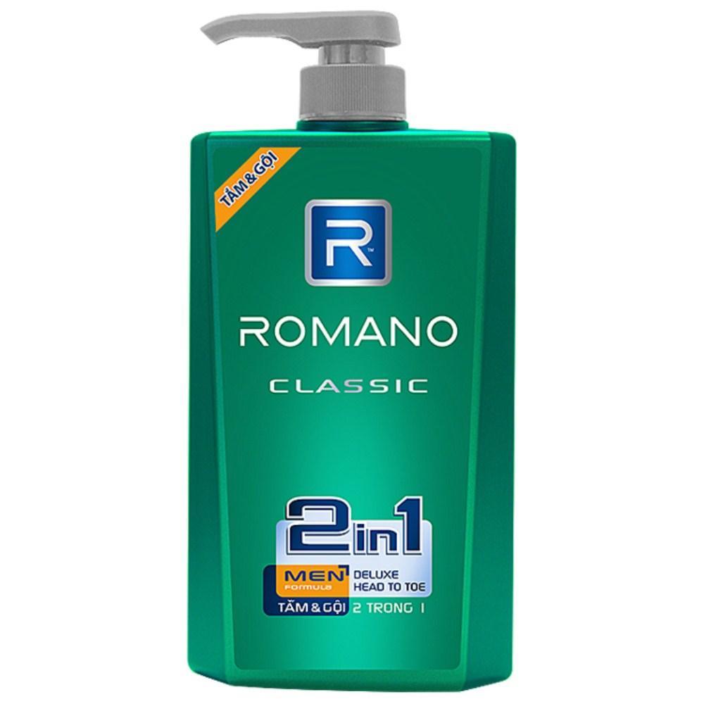 Ôn Tập Tắm Gội 2In1 Romano Classic Cao Cấp 650Ml