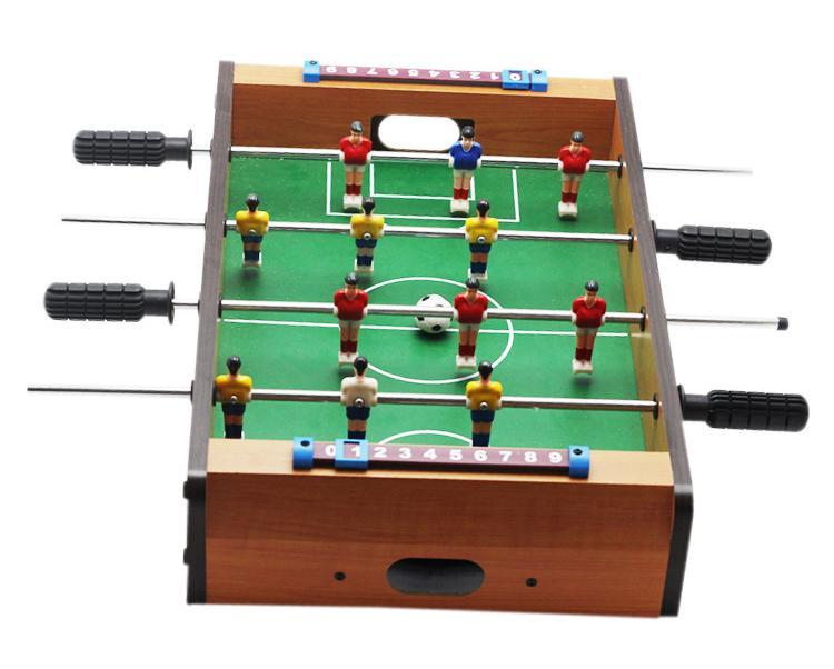 Hình ảnh Bộ đồ chơi bàn bi lắc đá bóng bằng gỗ cho bé