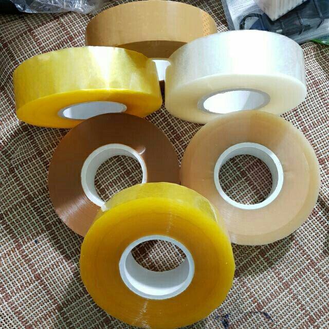 Hình ảnh Băng dính 1kg/ 1cuộn lõi nhựa màu vàng chanh