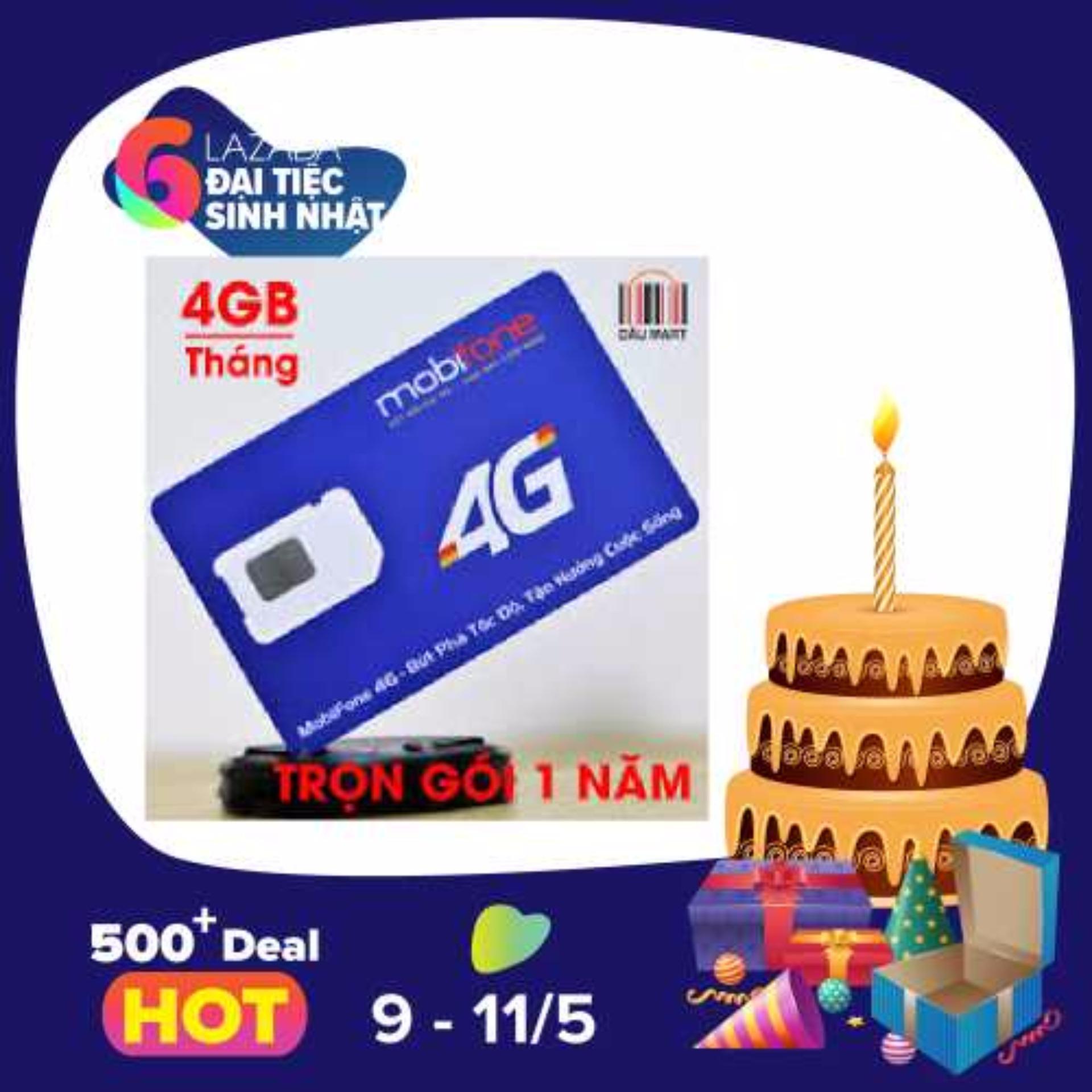 Sim 3G 4G Mobifone Mdt250A Trọn Goi 4Gb Thang Bình Dương Chiết Khấu 50