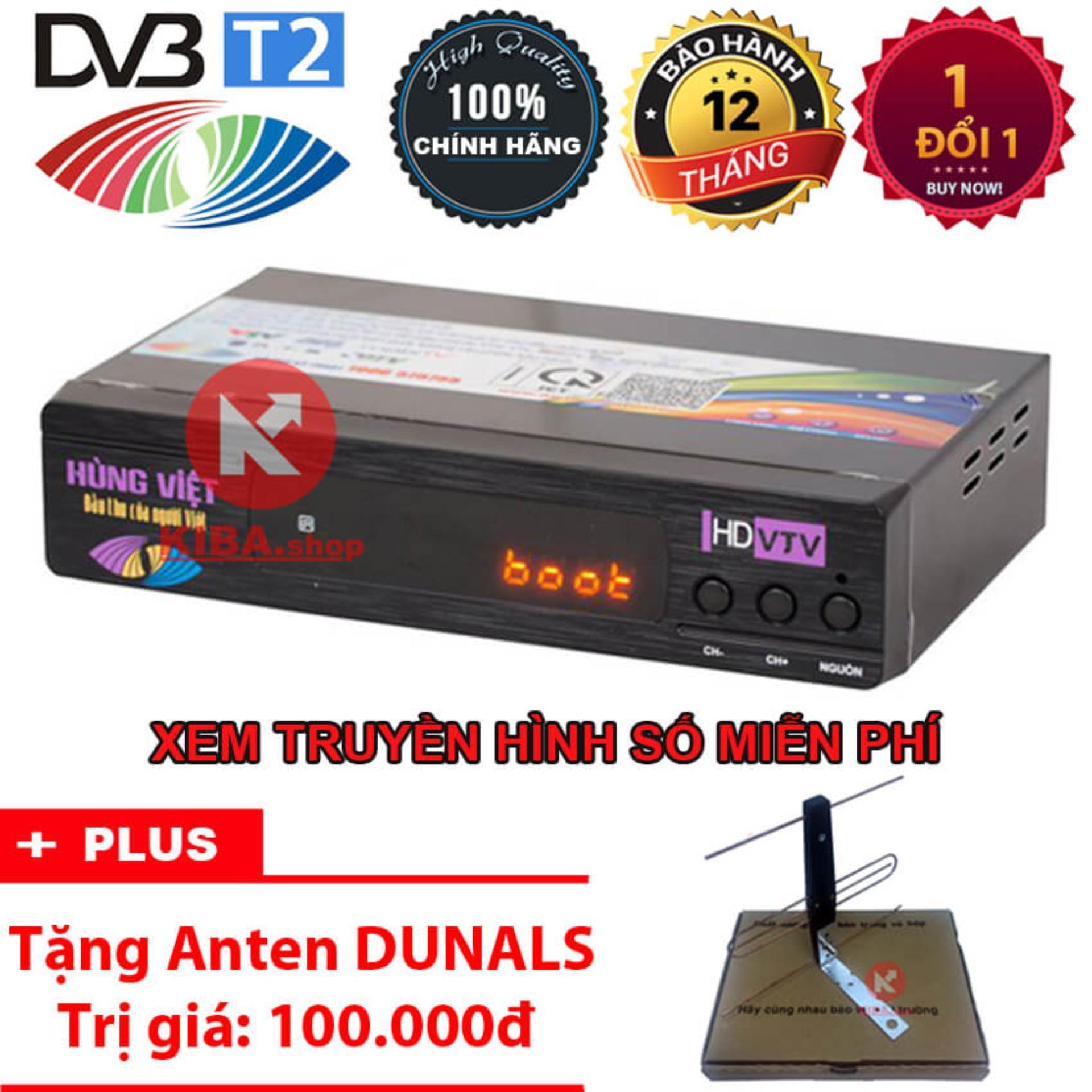 Bán Đầu Thu Kỹ Thuật Số Hung Việt Dvb T2 Ts123 Tặng Anten Khuếch Đại Hùng Việt Nguyên