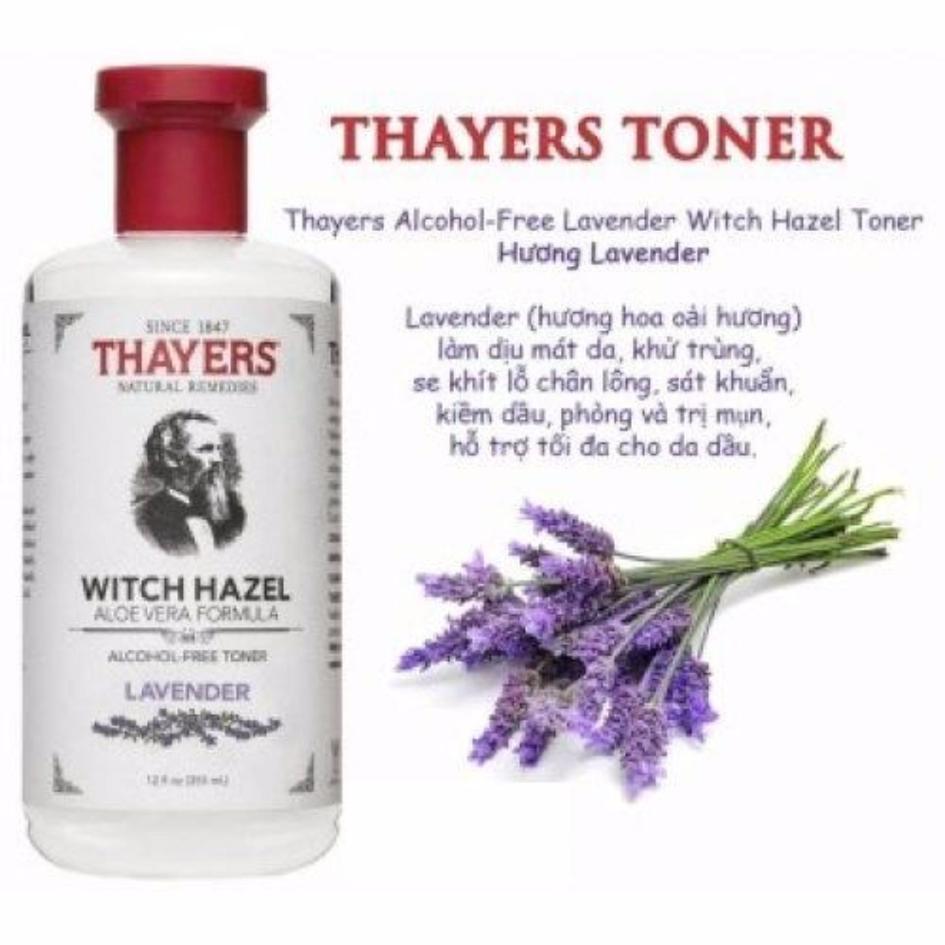 Bán Nước Hoa Hồng Khong Cồn Hương Lavender Thayers® Alcohol Free Lavender Witch Hazel Toner 355Ml Danh Cho Da Mụn Có Thương Hiệu
