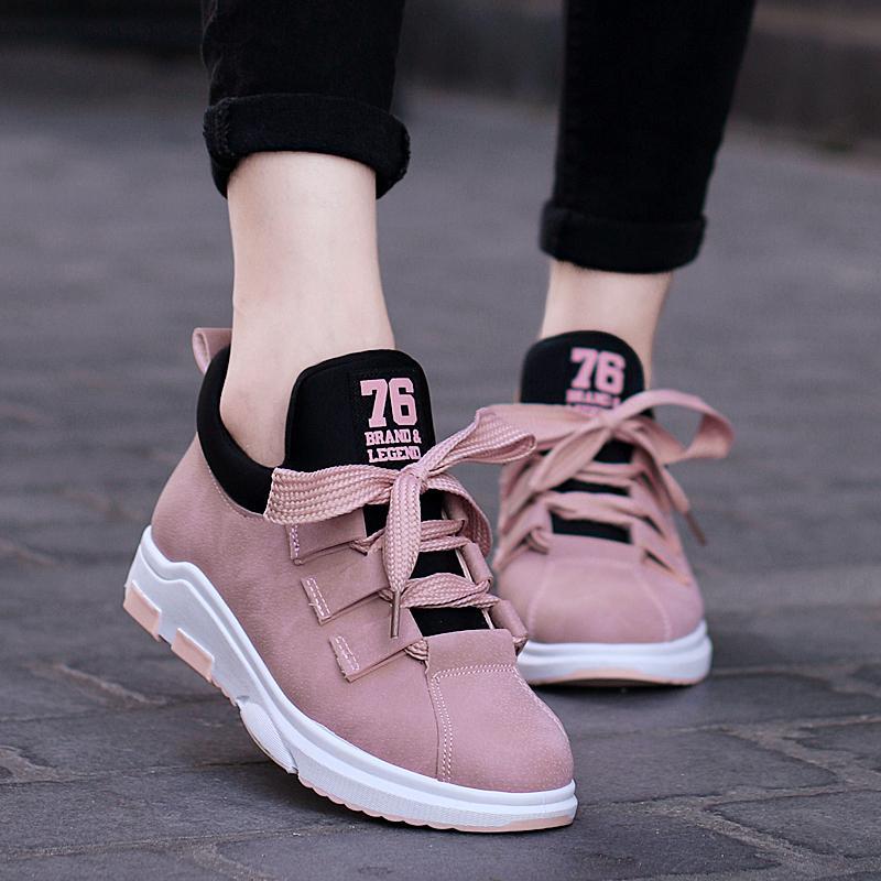 Hình ảnh 2018 giày thể thao mới giày của phụ nữ thường giày với đáy dưới da không thấm nước không trơn