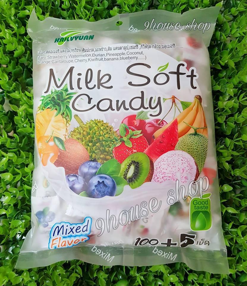 Hình ảnh Kẹo dẻo trái cây tổng hợp (mã vạch Thái) Milk Soft Candy (105 viên)