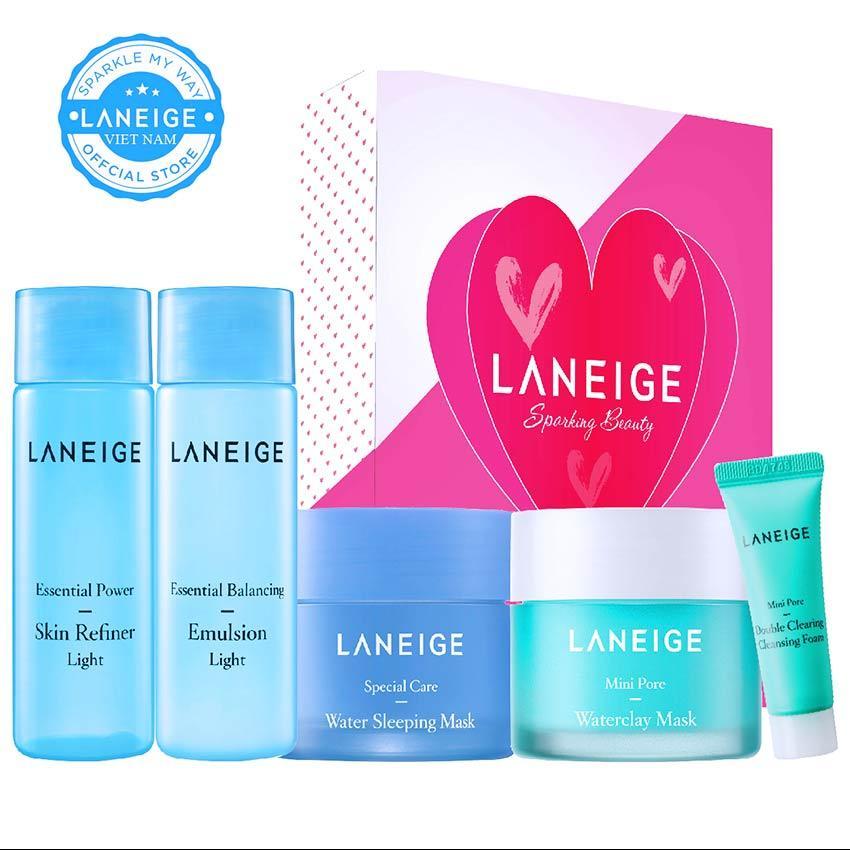 Hình ảnh [BEST SELLER] Bộ 5 sản phẩm chăm sóc chuyên sâu da dầu và hỗn hợp nhờn Laneige Mini Pore Care Trial Kit
