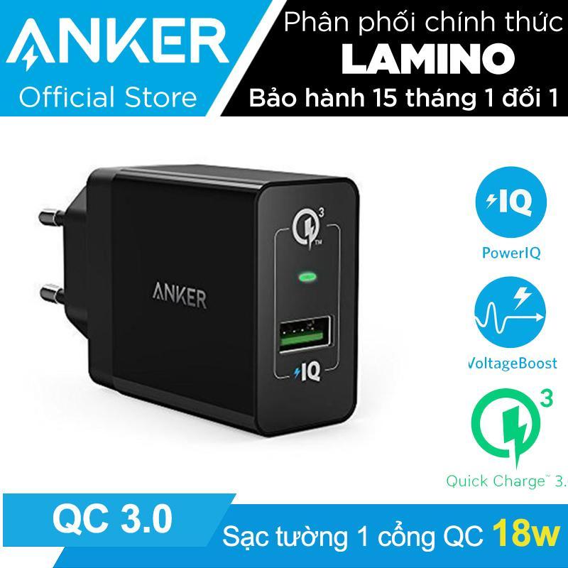 Bán Sạc Anker Powerport 1 Cổng 18W Quick Charge 3 Co Poweriq Đen Hang Phan Phối Chinh Thức Anker Trực Tuyến