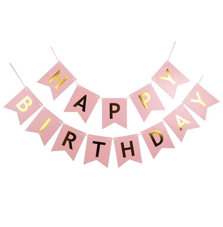 Hình ảnh Dây chữ HAPPY BIRTHDAY bằng giấy ánh GOLD