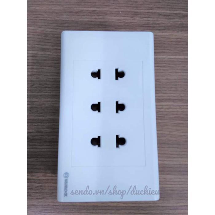 Hình ảnh Ổ cắm điện âm tường 3 ổ cắm Sino - Vanlock 16A