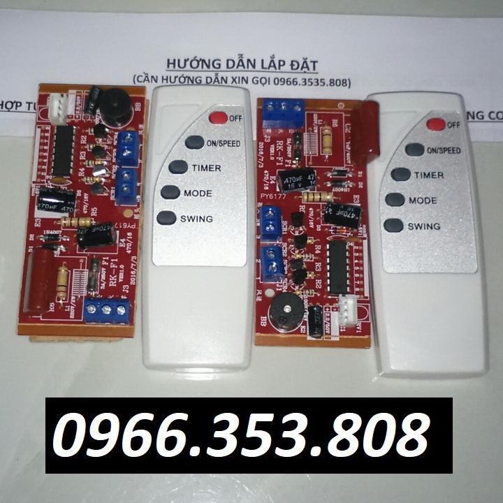 Hình ảnh Combo 2 bộ Mạch điều khiển từ xa cho quạt (Tiếng Anh)