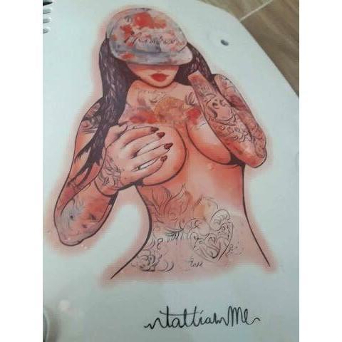 Hình ảnh hình xăm dán cô gái goi cảm bắp tay (qua tặng đầu xuân 3 mini tattoo khi mua 5 san phâm đồng size)