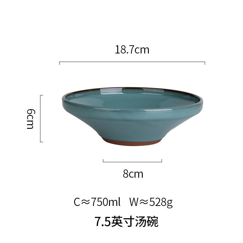 Modengzhufu model Eropa Retro variabel glasir Keramik Peralatan makan rumah tangga piring hidangan Barat Piring sayur