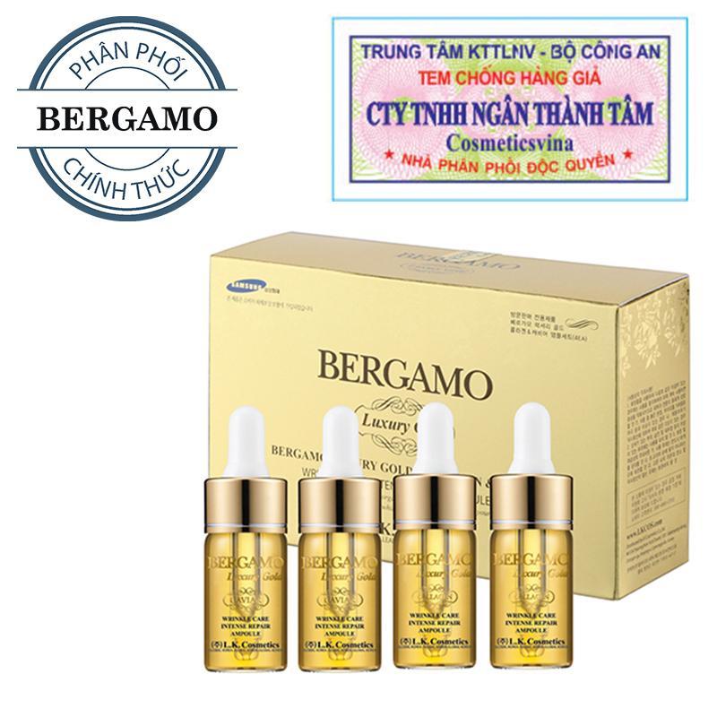 Giá Bán Set Tinh Chất Trị Mụn Dưỡng Trắng Tai Tạo Da Bergamo Luxury Gold Collagen And Caviar 13Ml Chai X 4 Chai Hang Chinh Hang Trực Tuyến