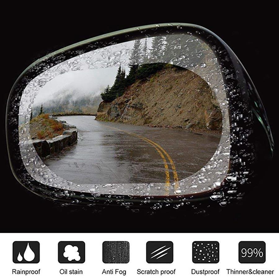 Combo 2 Miếng dán chống nước gương ô tô ( Miếng Dài ) Bộ gồm 2 miếng