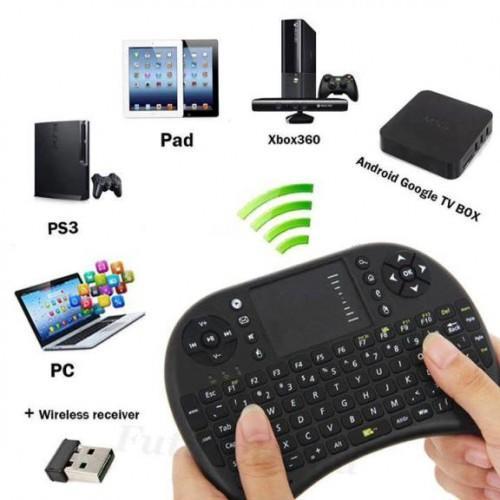 Hình ảnh Chuột Bay Kiêm Bàn Phím Không Dây I8 Cho Smart Tivi & Android Box