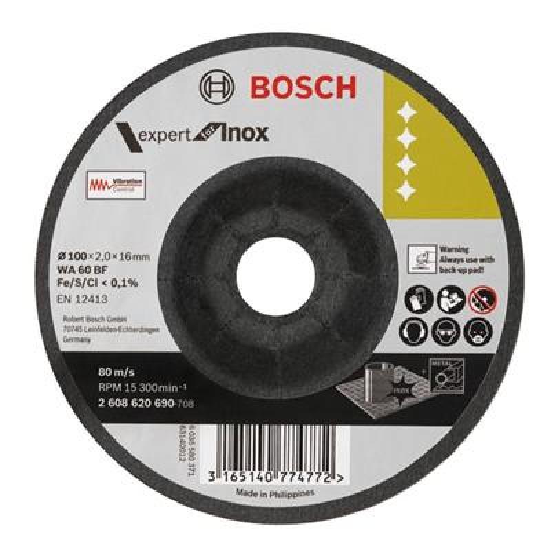 Đá mài linh hoạt 100x2x16mm (lnox), 2608620690, Bosch