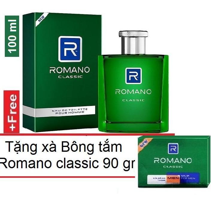 Romano - Nước hoa cao cấp  100 ml + tặng Xà bông tắm 90 gr  - Classic