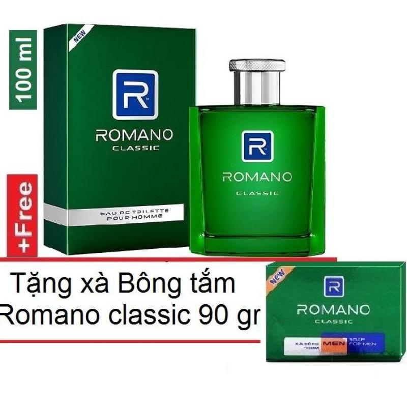Romano - Nước hoa cao cấp  100 ml + tặng Xà bông tắm 90 gr  - Classic nhập khẩu