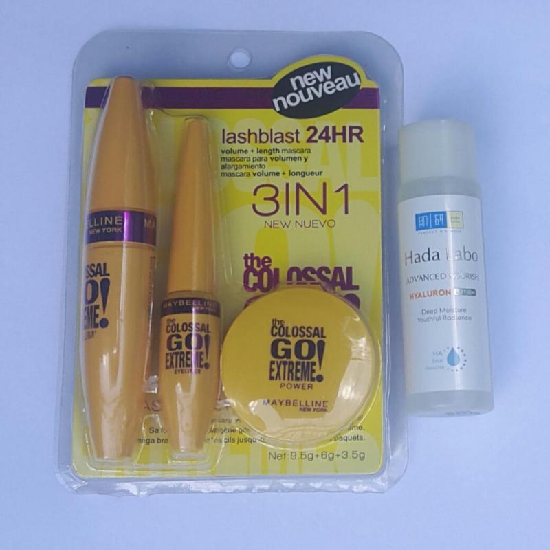 Mascara Colossal Go Extreme làm cong và dày mi + Tặng Dung dịch dưỡng ẩm Hada Labo 40ml