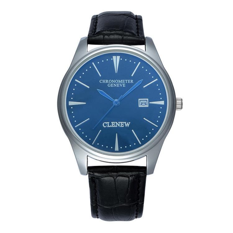 Hình ảnh Đồng hồ Geneve Clenew mặt xanh chống nước rất sang trọng+tặng kèm pin 30k