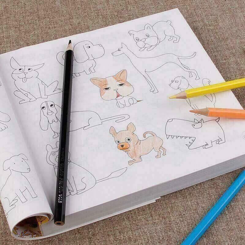 Hình ảnh Sách 10.000 hình tặng kèm bút tô màu