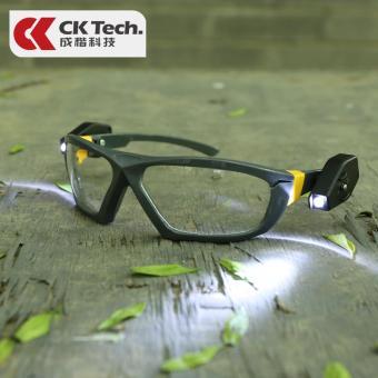 Price Checker Dengan lampu kacamata pelindung malam lampu tembak kacamata pelindung terang Bercahaya tambang malam hari kacamata pelindung laboratorium ...