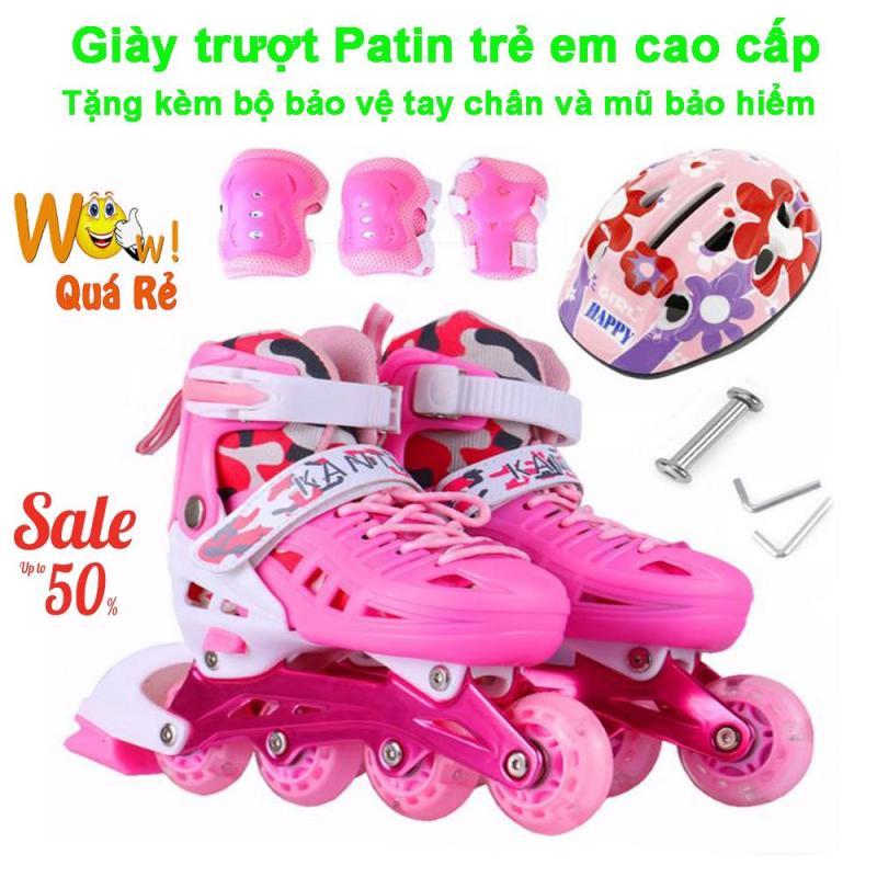 Mua Giày Patin 4 Bánh Giá Rẻ, Giày Trượt Patin Trẻ Em Cao Cấp Mẫu Mới PT-187 ( Tặng Kèm Bộ Bảo Vệ Tay Chân Và Mũ Bảo Hiểm ), Shop Giày Trượt Patin Trẻ Em | Uy Tín - Giảm Siêu Sốc Đến 50%