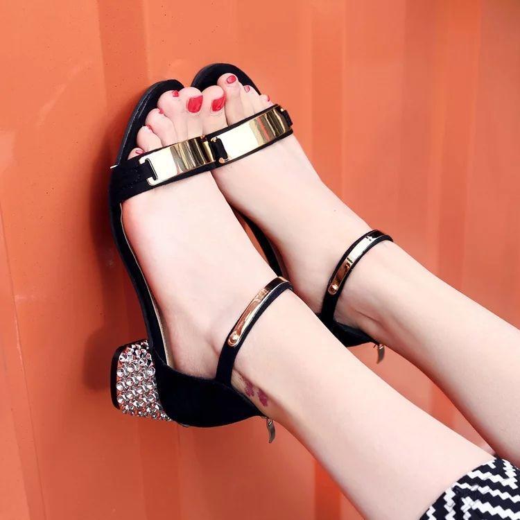 Giày cao gót đế bạc 5 phân