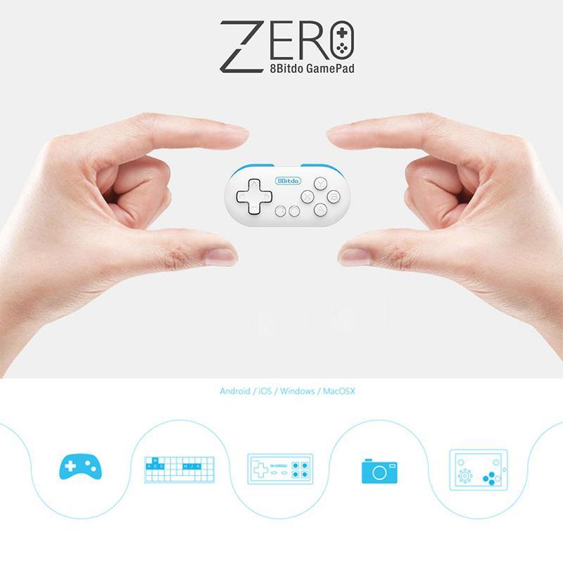 Asli 8 Bitdo Nol Mini Nirkabel Bluetooth Pengontrol Permainan Gamepad Joystick Selfie Jarak
