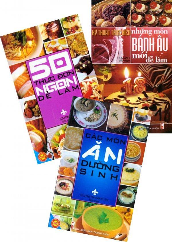 Mua Combo Sách Nấu Ăn (Bộ 3 Cuốn) - Nhiều tác giả