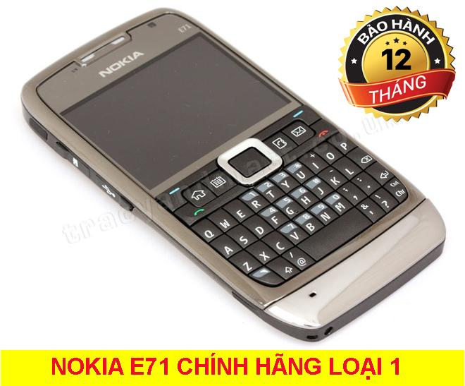 Bán Mua Trực Tuyến Điện Thoại Nokia E71 Xam Zin Bảo Hanh 12 Thang
