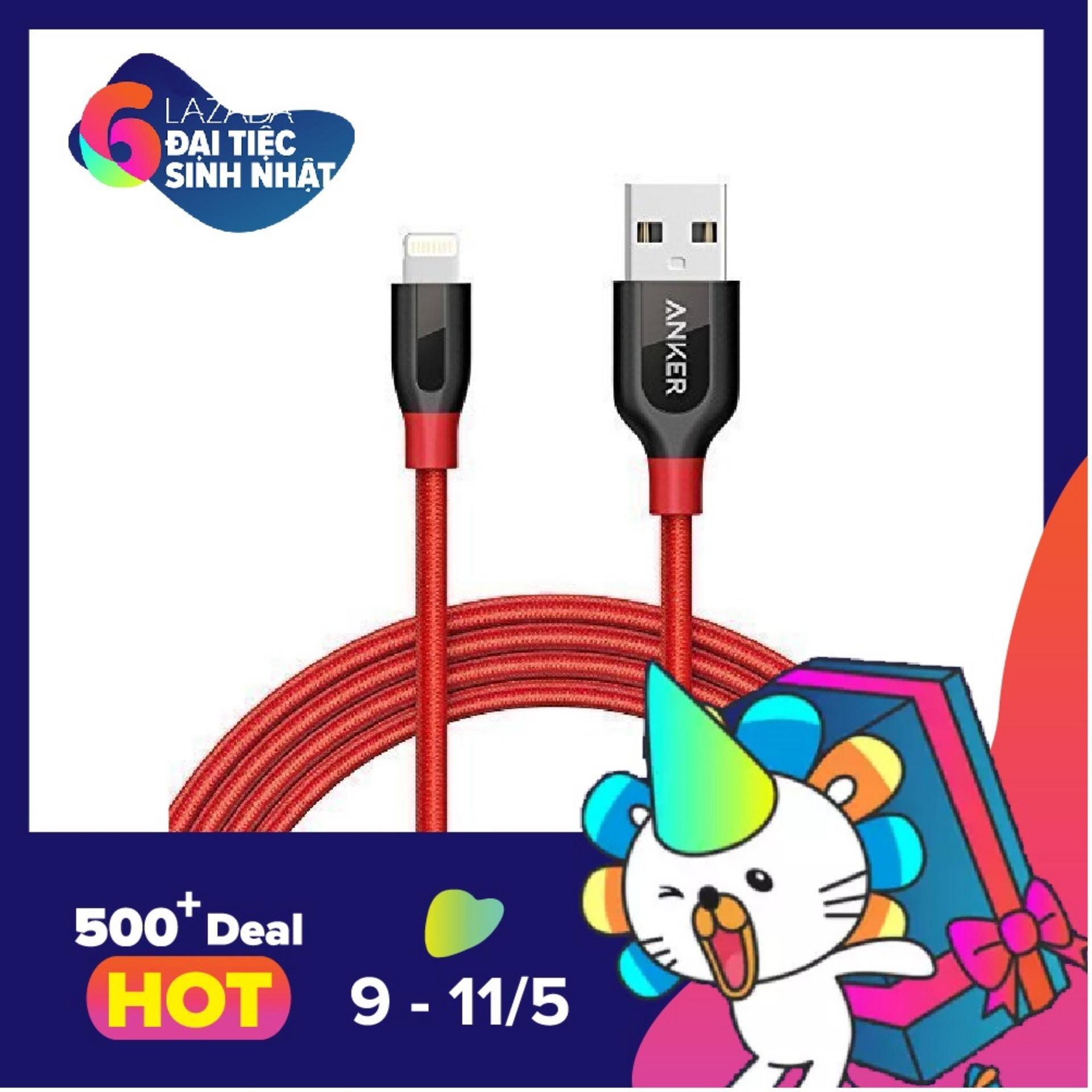 Mua Cap Sạc Sieu Bền Anker Powerline Lightning 9M Cho Iphone Ipod Ipad Co Bao Da Rẻ