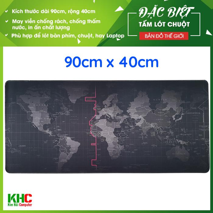 Tấm lót chuột mẫu Bản Đồ Thế Giới 2017 size 90cm x 40cm - Kim Hải Computer
