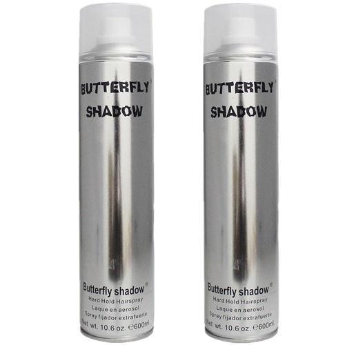 Gôm xịt tóc BUTTERFLY SHADOW 600ml (bạc)