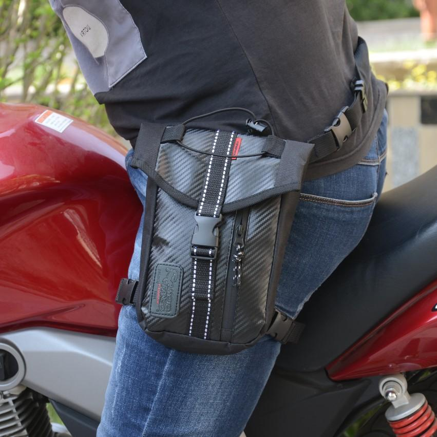 DSstyles Waterproof Oxford Thigh Drop Waist Leg Bag Male Motorcycle Fanny  Pack - Black black