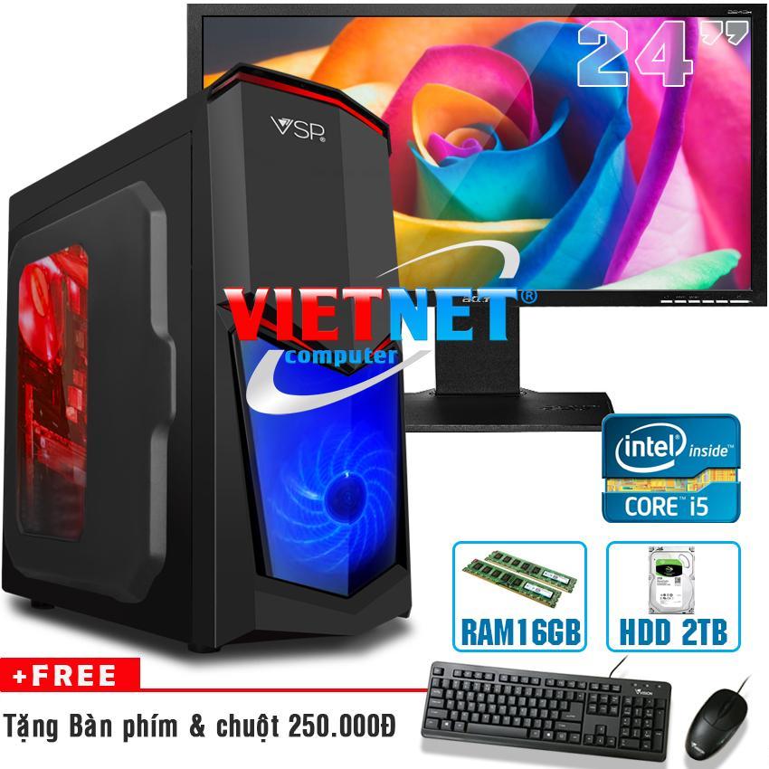 Bán May Tinh Chơi Game Intel I5 2400 Ram 16Gb Hdd 2Tb Lcd Acer 24Inch Computer