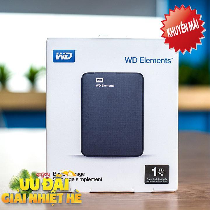 Hình ảnh Ổ Cứng Di Động WD Elements 1Tb kết nối USB 3.0 (Hàng Nhập Khẩu)