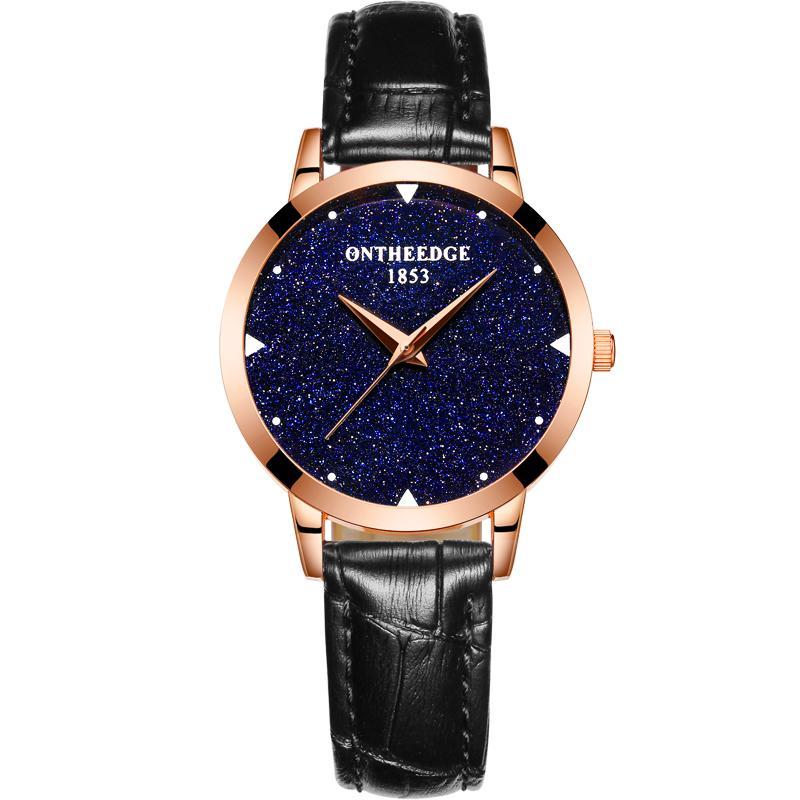 Ultra-thin waterproof leather belt quartz watch Malaysia