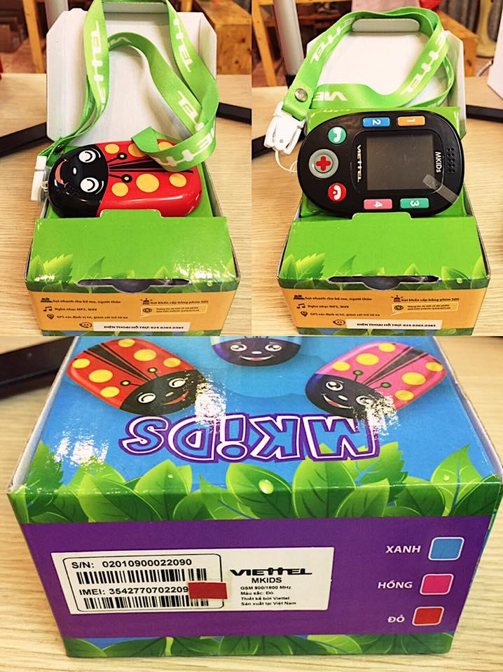 Hình ảnh Combo điện thoại trẻ em Mkids màu đỏ + Thẻ nhớ 8GB