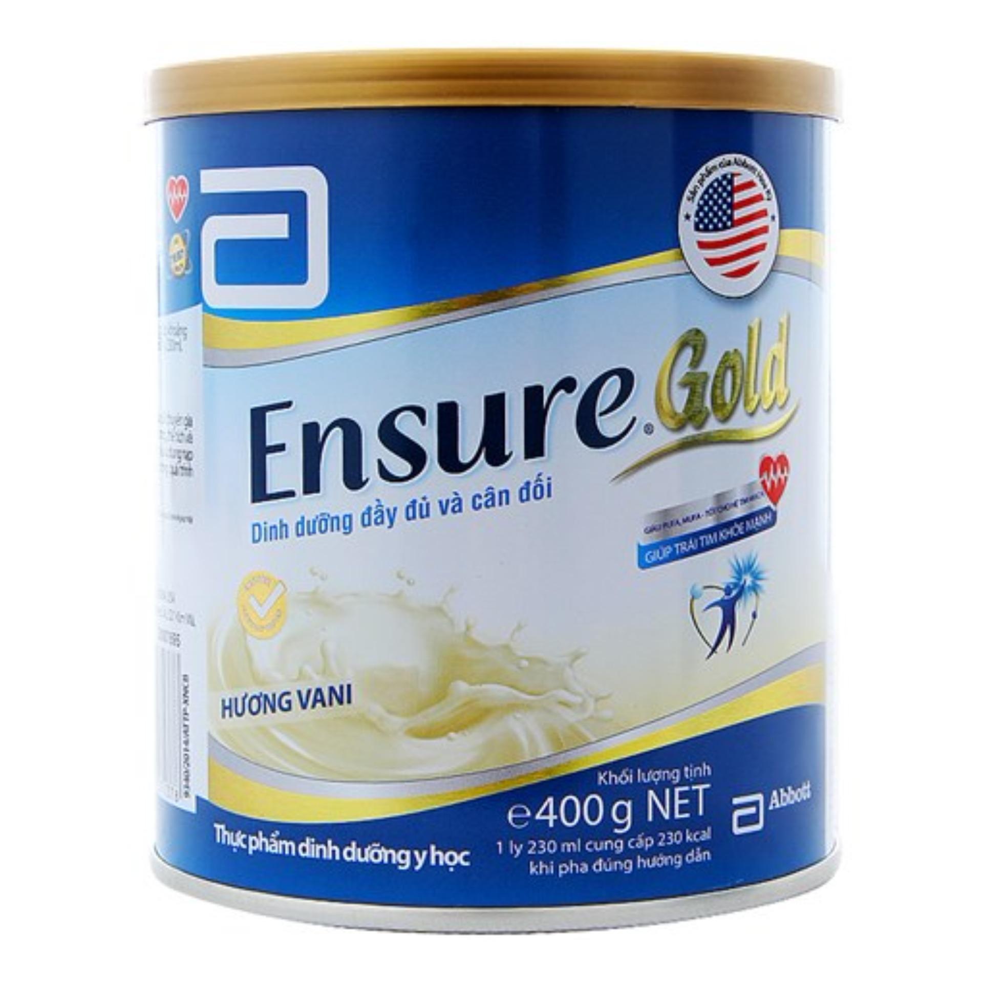 Hình ảnh Lon sữa bột Ensure Gold Hương Vani 400g