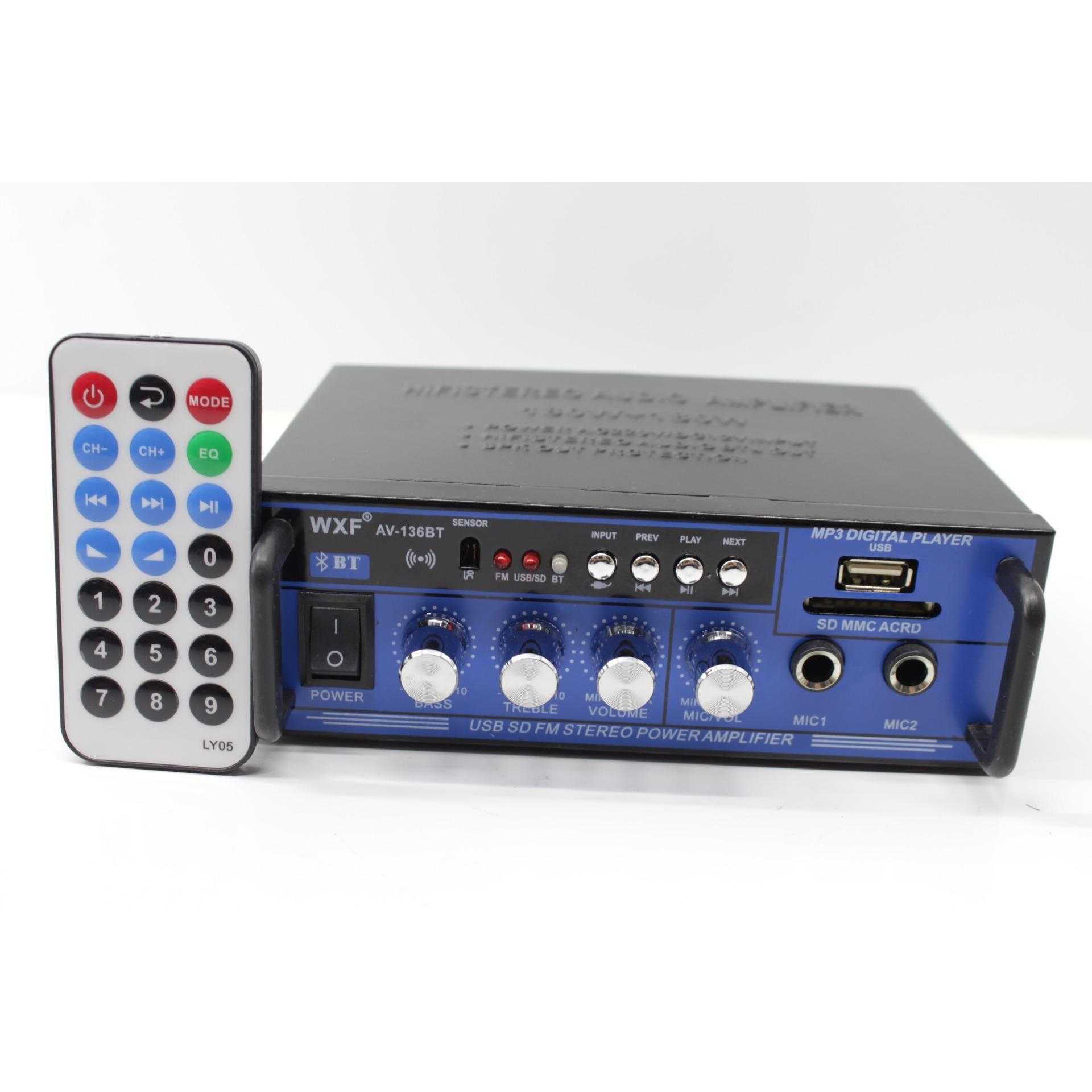 Giá Bán Ampli Wxf Av 136Bt 12V 220V Audio Bluetooth 180W 180W Đen Nguyên None
