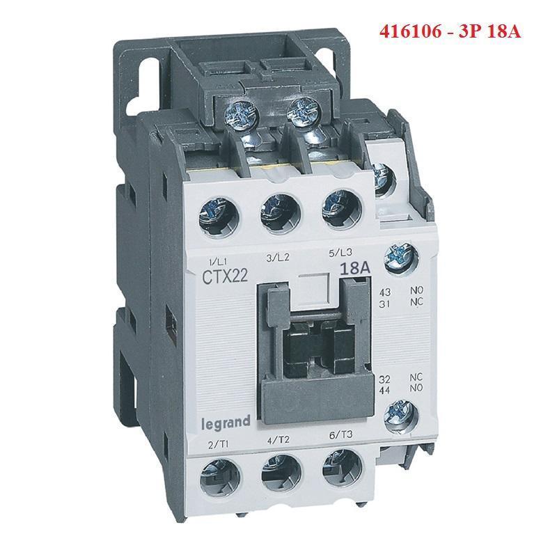 [ 416106 ] CONTACTOR [ LEGRAND - PHÁP ] - CTX 3P 18A 1NO 1NC 230V AC