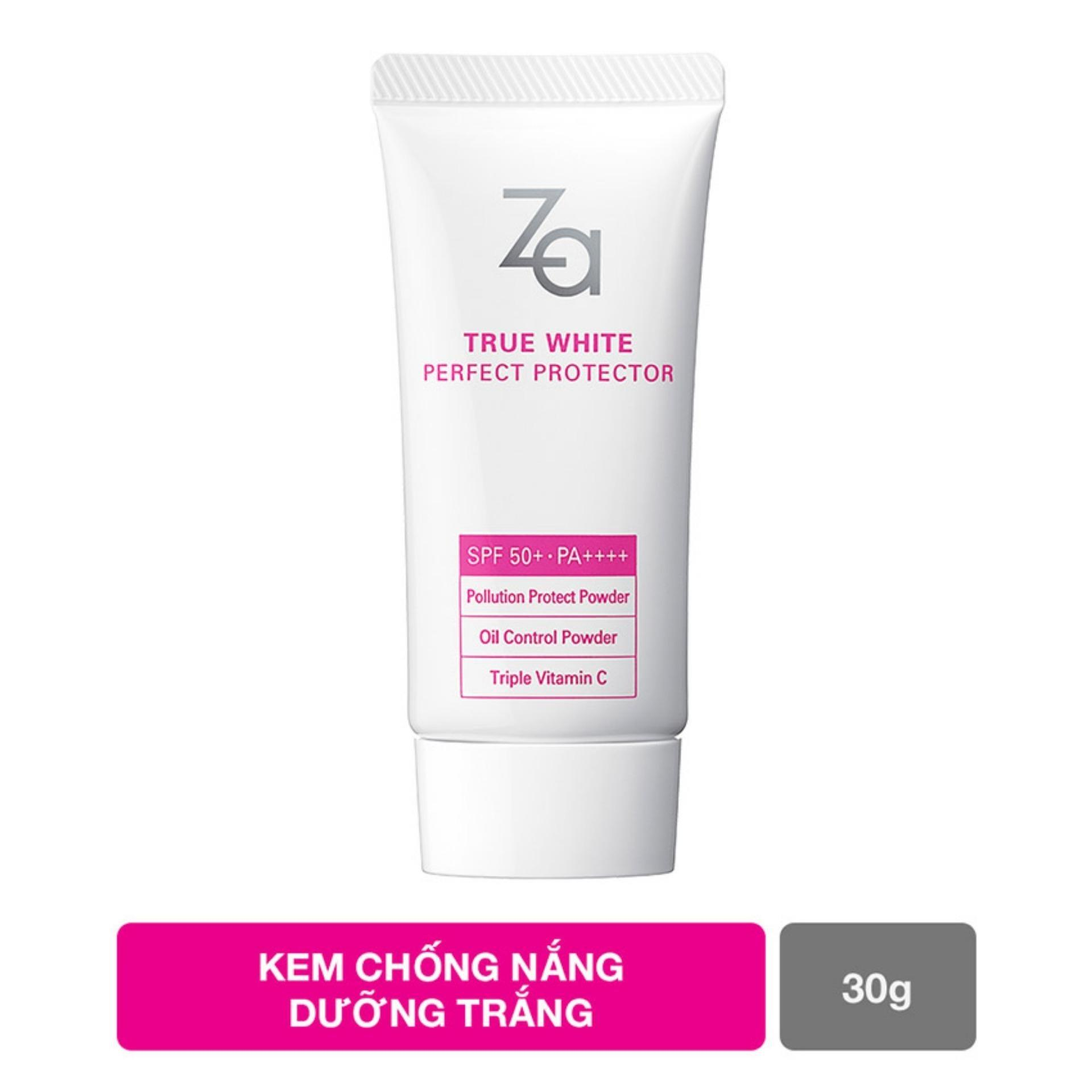 Kem chống nắng dưỡng trắng và kiềm dầu Za True White Ex Perfect Protector SPF 50 PA+++ 30g (Code 40595) nhập khẩu