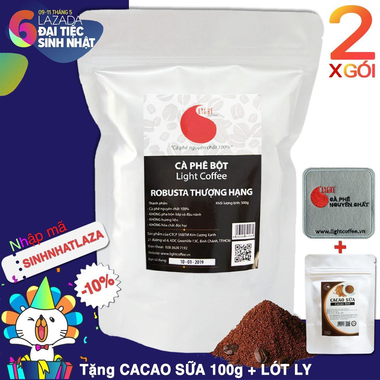 Giá Bán Bộ 2 Goi 1Kg Ca Phe Robusta Nguyen Chất 100 Thượng Hạng Light Coffee Trong Hồ Chí Minh