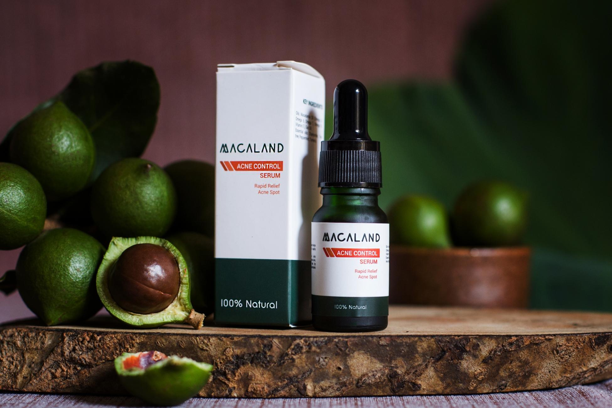 Serum Trị Mụn từ hạt mắc ca MACALAND Natural Cosmetics 10ml chính hãng