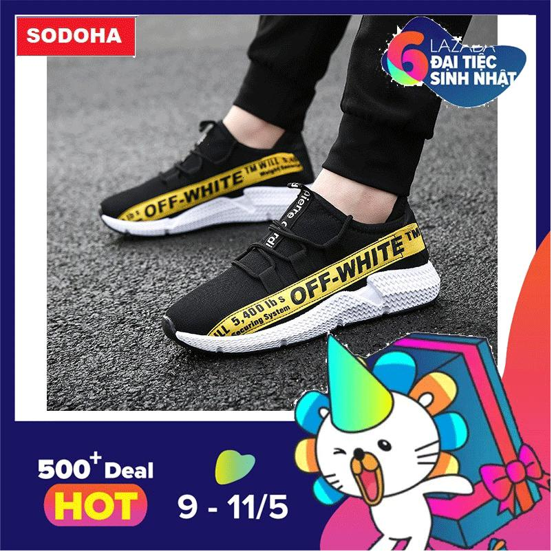 Mã Khuyến Mại Giay Sneaker Nam Thể Thao Mẫu Mới Sieu Hot Y8 339968Y Đen Phối Vang Trong Hà Nội