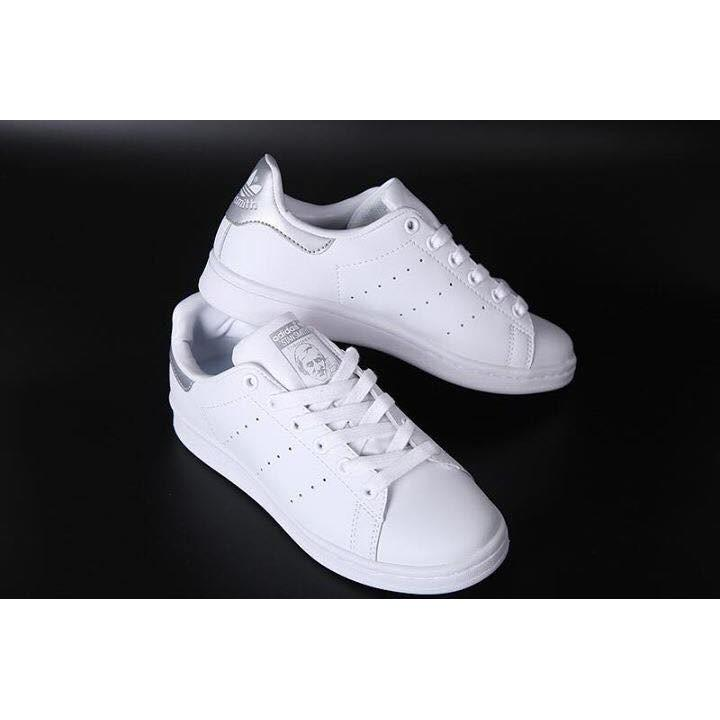 Hình ảnh Giầy adidas stan smith gót bạc