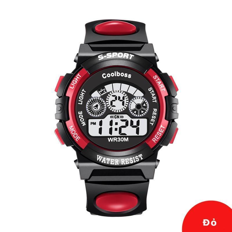 Nơi bán Đồng hồ trẻ em dây cao su Gold time S-sport( Đỏ đen)
