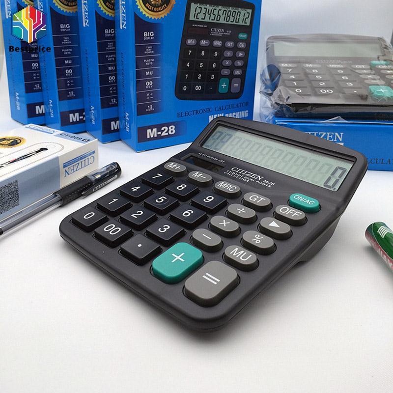 Hình ảnh Office Home School Tool Supplies Solar Power Powered Battery Digit Calculator