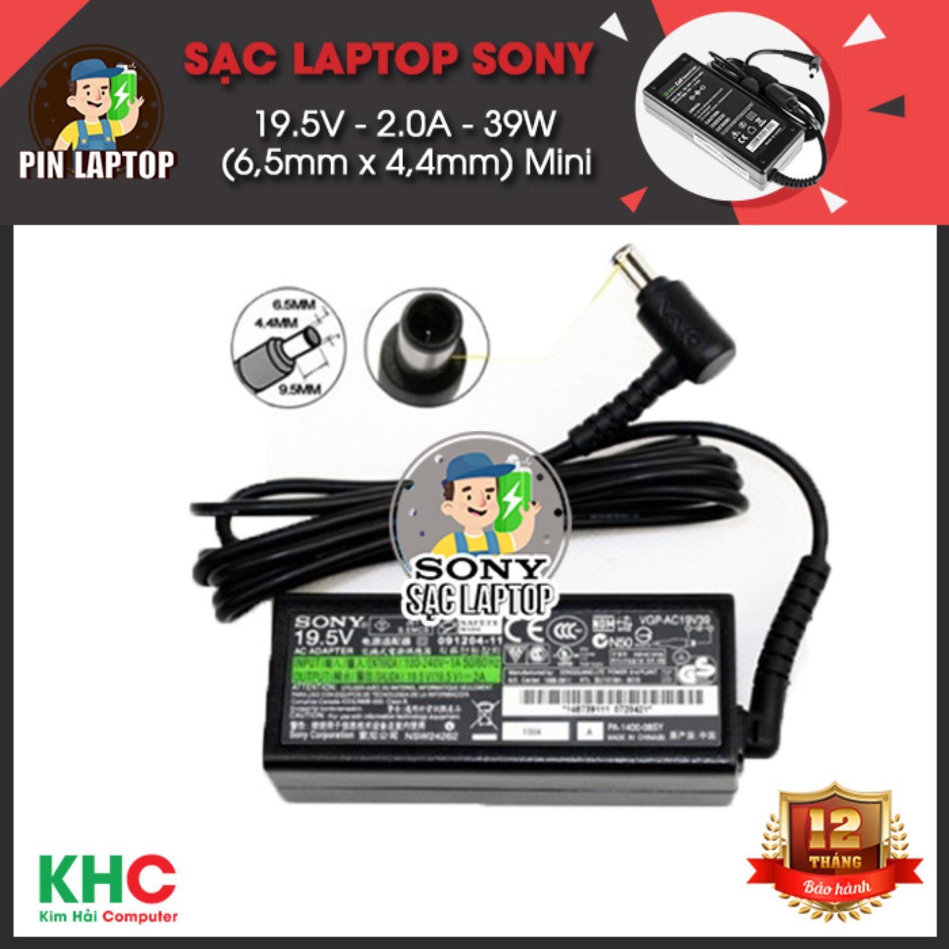 Mã Khuyến Mại Sạc Laptop Sony 19 5V 2 0A 39W 6 5Mm X 4 4Mm Mini Rẻ